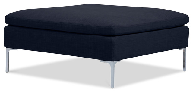 Mayfair Navy Deluxe Ottoman modern-footstools-and-ottomans