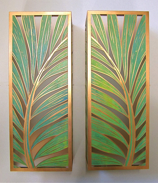 Tropical Bathroom Wall Sconces : Coconut Palm Sconces - Tropical - Wall Sconces - hawaii - by Paradise Lights