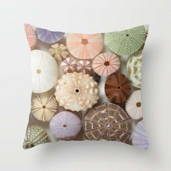 Sea Urchin Photograph Pillow by Machel Spence Photography tropical-decorative-pillows