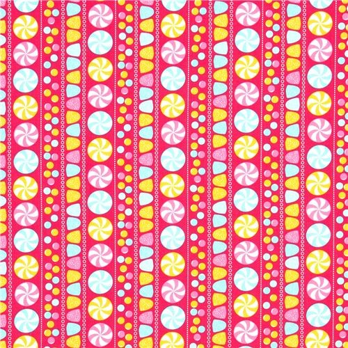 pink fabric with sweets by Robert Kaufman fabric