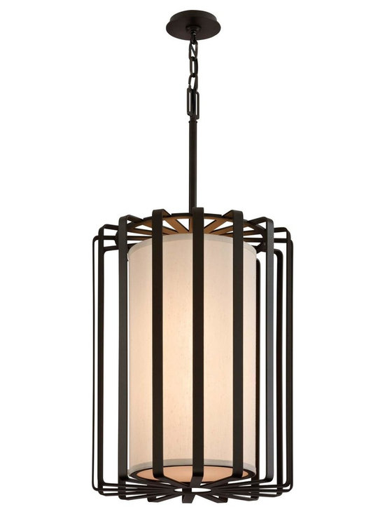 """Troy Lighting Troy 2-Light 19.25"""" Drum Pendant in Bronze - Troy Lighting's 2-Light drum pendant comes in a Bronze finish. This product is constructed from Hand-worked Wrought Iron. Dimensions: 28.625"""" high. Approximately 19.125"""" in diameter. Canopy/Backplate Dimensions: 4.5"""" in diameter."""