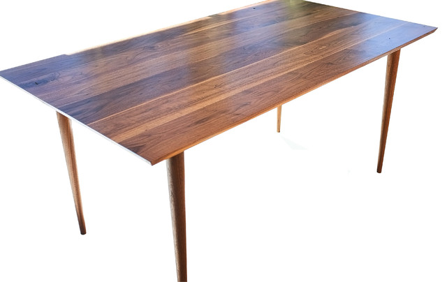 The Zoe Midcentury Modern Solid Walnut Dining Table