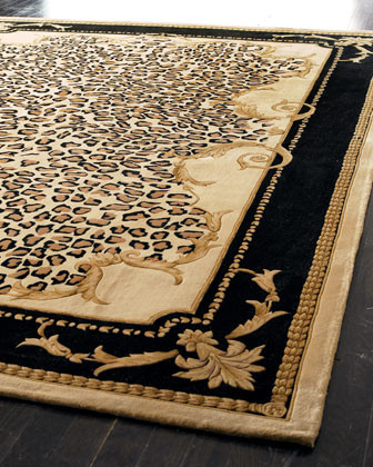 """""""Delicate Leopard Leaf"""" Rug traditional-rugs"""