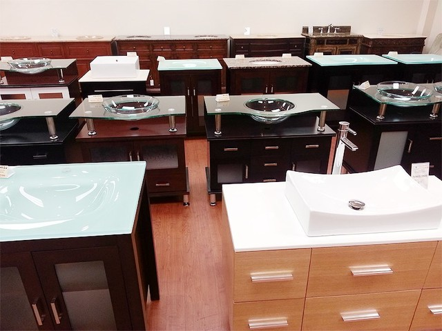 Showroom bathroom-vanities-and-sink-consoles