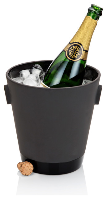 Magisso Black Terracotta Champagne Cooler modern-wine-and-bar-tools
