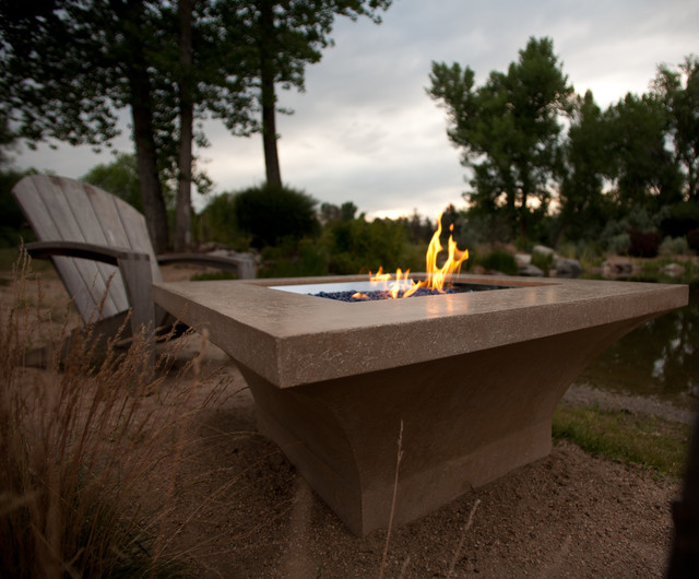 Cast Limestone Creations Firenze 42 Cast Stone Fire Pit transitional-fire-pits