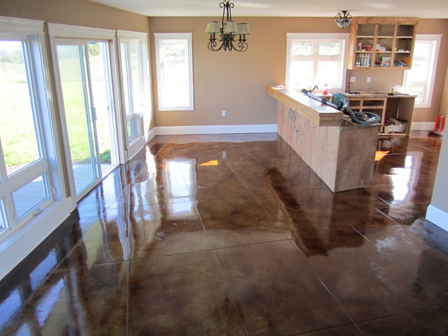 Stained concrete floors contemporary other metro by for Stained polished concrete floor