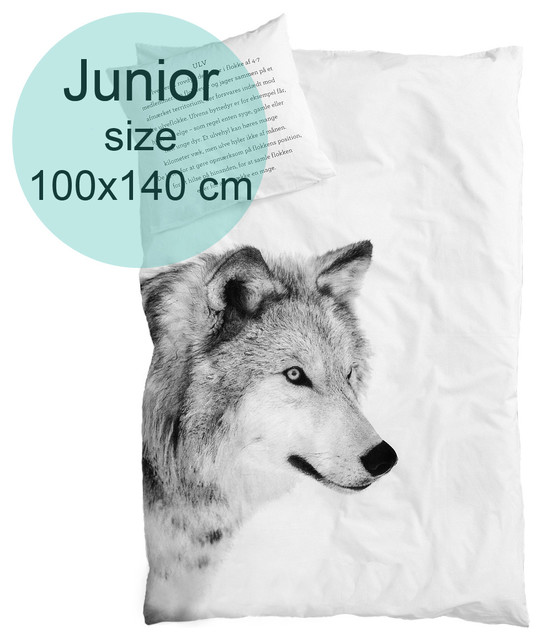 White Wolf Animals Bedding Sets 4pcs 100 Cotton Bed Duvet