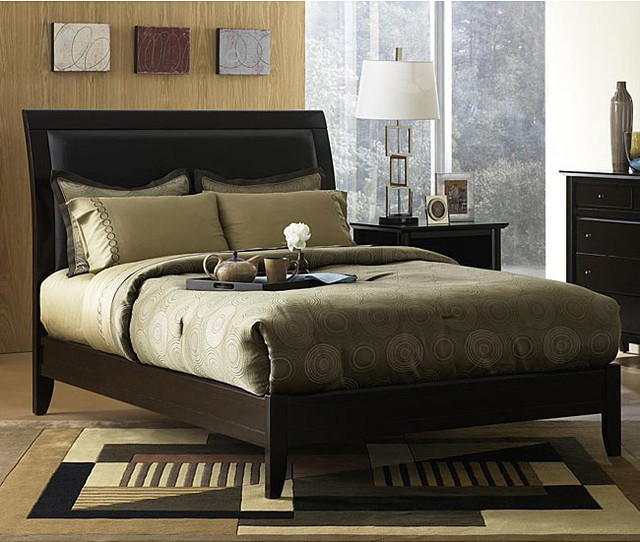 king size sleigh bed contemporary bedroom furniture sets by