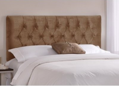 Tufted Mystere Upholstered Headboard modern headboards
