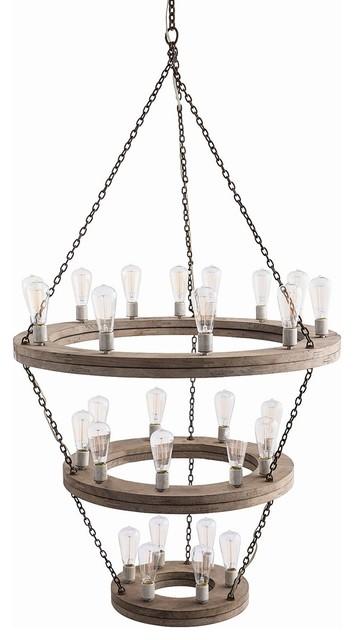 Geoffrey Three Tier Chandelier industrial-chandeliers