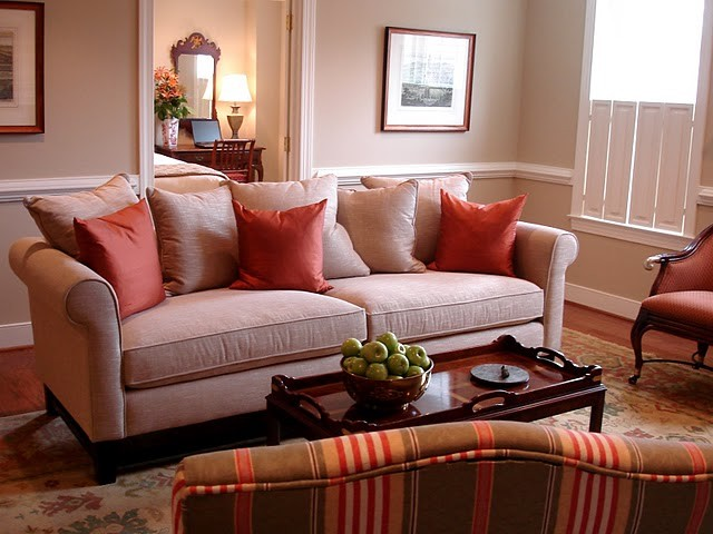 English Country: A Small One-Bedroom Residence in a Retirement Community traditional-living-room