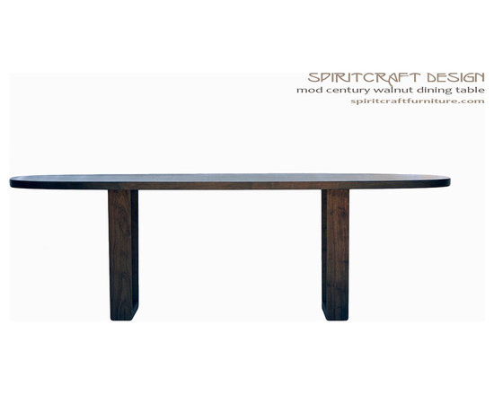 The Mod Century Oval Dining Table in Walnut -