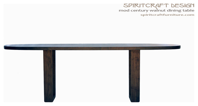 The Mod Century Oval Dining Table in Walnut - contemporary ...