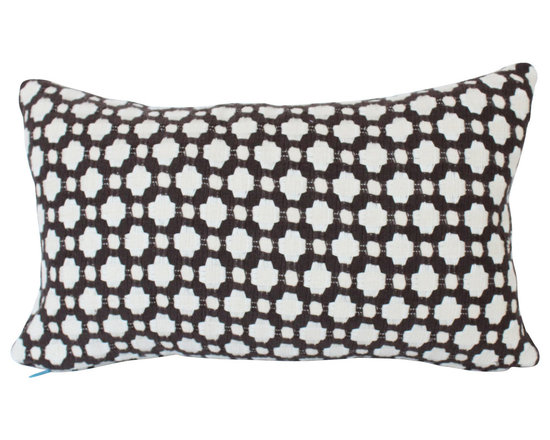 The Pillow Studio - Brown Betwixt Lumbar Pillow Cover on Both Sides - This Brown Betwixt lumbar pillow cover has such great texture and subtle design; I think I could have one of these on every room of my house!