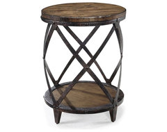 Magnussen T1755 Pinebrook Wood Round Accent Table contemporary-side-tables-and-end-tables
