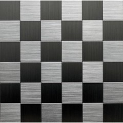 Instant Mosaic 12 in. x 12 in. Peel and Stick Brushed Stainless Metal Wall Tile