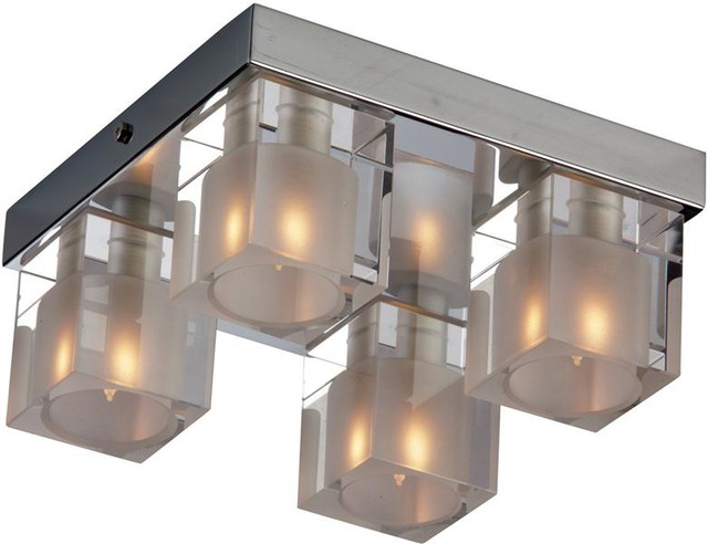 ET2 Lighting E22038-18 4 Light Flush Mount Blocs Collection contemporary-ceiling-lighting