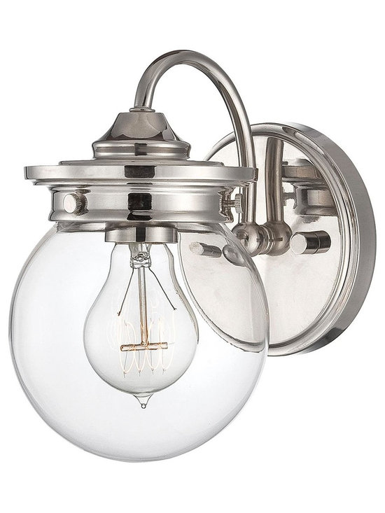Traditional Clear Glass Globe Sconce -