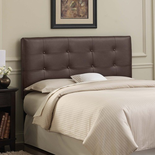 Tufted Leather Upholstered Headboard - Modern - Headboards - by ...