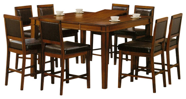 butterfly leaf 7 piece counter height set traditional dining sets