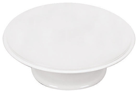 12 1/2 in. by 4 in. Revolving Cake Display traditional-serving-dishes-and-platters