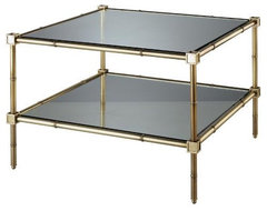 Robert Abbey Jonathan Adler Meurice Two Tier Table In Brass - Robert-abbey-658 | traditional side tables and accent tables