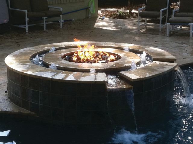 Fire bowls for pools and backyards - Pool fire bowls ...