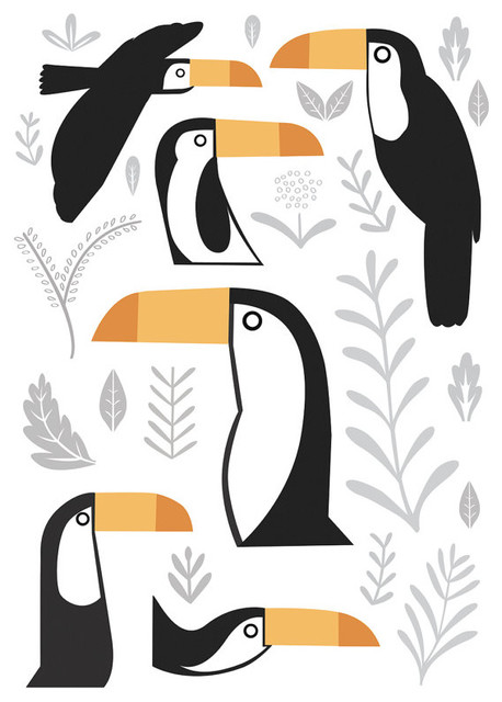 A3 Toucans Print By watersounds contemporary artwork