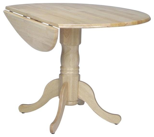 round dual drop leaf pedestal dinette table contemporary dining tables by ivgstores. Black Bedroom Furniture Sets. Home Design Ideas
