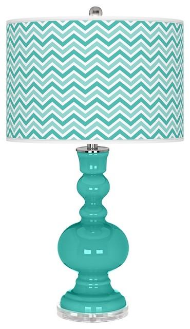 Contemporary Synergy Narrow Zig Zag Apothecary Table Lamp contemporary-table-lamps