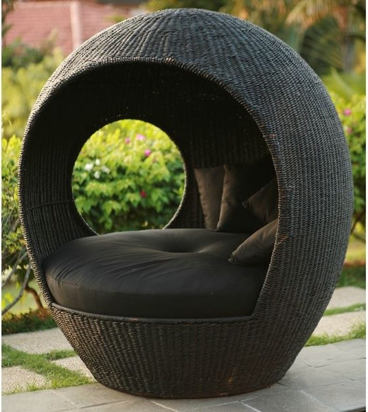 Melon Outdoor Wicker Pod Chair - Outdoor Lounge Chairs - chicago - by Home Infatuation