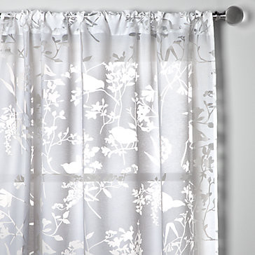 Tweet Panels - Sheer White modern curtains