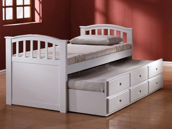 Acme Furniture - San Marino Franic White Captain Twin Bed With Trundle - 09145A transitional-beds