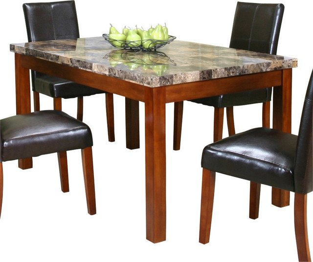 Cramco Mayfair 60 Inch Faux Marble Top Dining Table  : contemporary dining tables from www.houzz.com size 640 x 536 jpeg 76kB