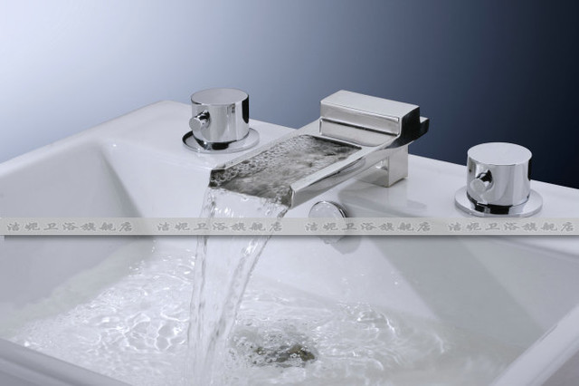 7 Faucet Finishes For Fabulous Bathrooms: NEW**wall Mount Basin Waterfall Faucet JN8815 Chrome