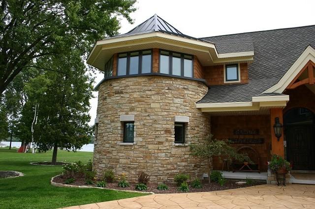 Weathered Edge Limestone Veneer rustic-exterior