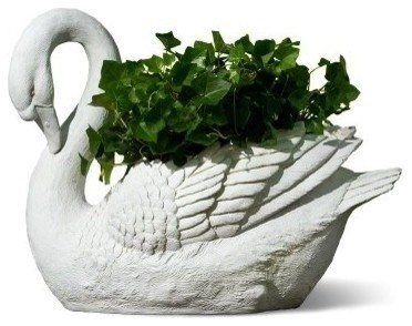 White Swan Planter Contemporary Indoor Pots And Planters By The Organizing Store