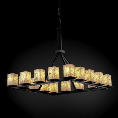 Justice Design Group Alabaster Rocks ALR-8615-15-MBLK Montana 16-Light Ring Chan modern-chandeliers