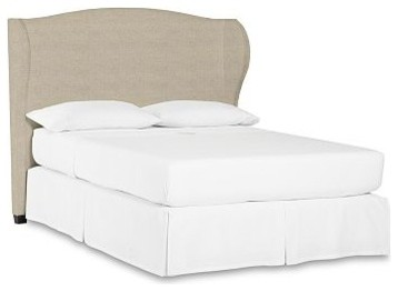 Raleigh Wingback Bed, King, Linen Oatmeal traditional-beds