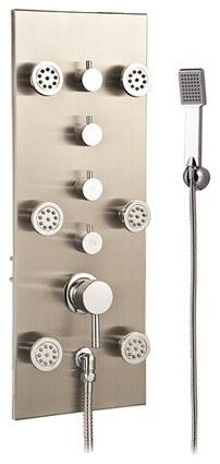 In Wall Shower Massage Panel with Hand Shower LT-01 contemporary-shower-panels-and-columns