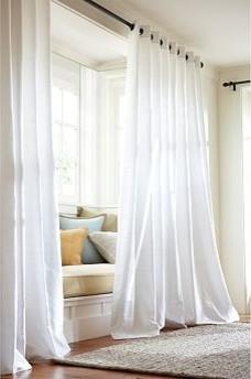 White Blackout Curtains 108