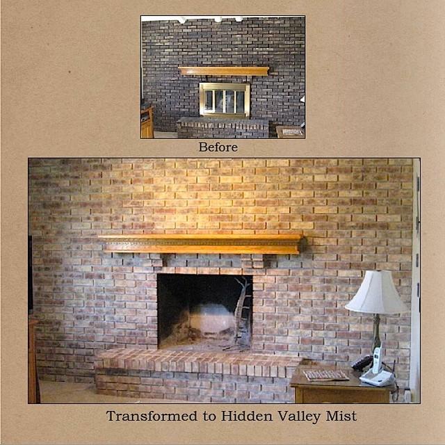 Chicagoland Northwest Suburbs Fireplace Brick Refinishing