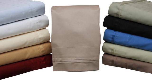 HC 650TC Egyptian Cotton Solid Sheet Set traditional-sheets