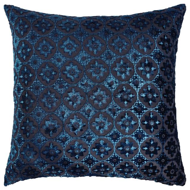 Small Black Decorative Pillow : Small Moroccan Velvet Decorative Pillow in Cobalt Black - Contemporary - Decorative Pillows - by ...