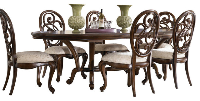 American Drew Jessica McClintock 7-Piece Oval Side Dining Room Set traditional-dining-tables