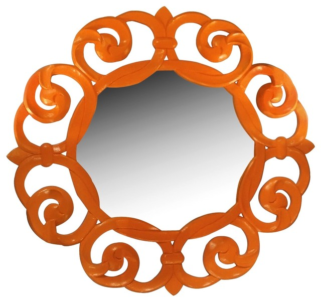 Worlds Away Lisette Mirror eclectic-wall-mirrors