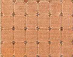 "Trans Ocean Terrace 1744/64 Tile Terracotta 7'10"" Square Area Rugs modern-rugs"