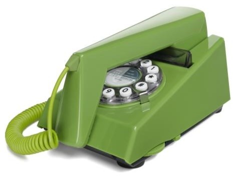 Retro Trim Phone Green eclectic home electronics