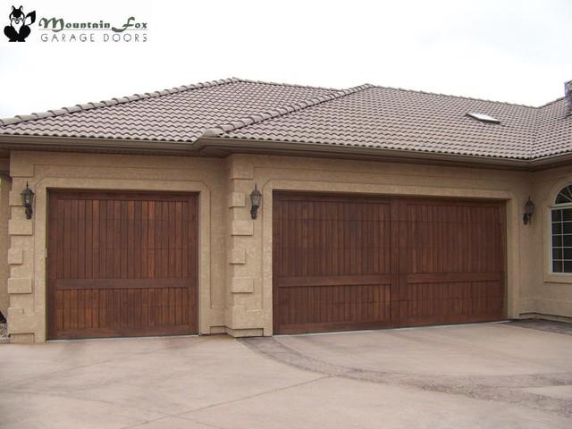 Beautiful Wood Doors traditional-garage-doors-and-openers